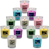 UNICY Scented Candles Bulk Mini Soy Wax Candle Set 12 Packs of 6 Fragrances for Housewarming Gifts, Return Gifts, Valentine's