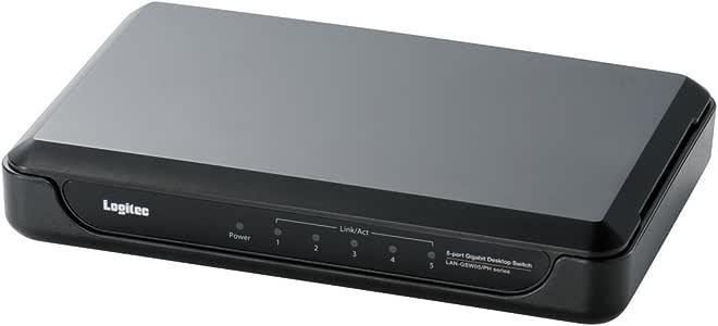 【2010年モデル】ロジテック スイッチングハブ(LANハブ) Giga対応 5ポート AC電源 LAN-GSW05/PHB