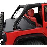 Shadeidea Jeep Wrangler Tonneau Cover JK Unlimited 4 Door Rear Trunk Cover Cargo Vinyl Cover for 2007-2017 JKU Tailgate Ton C