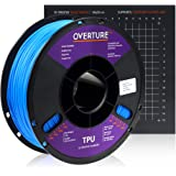 Overture TPU Filament 1.75mm Flexible TPU Roll with 200 x 200 mm Soft 3D Printer Consumables, 1kg Spool (2.2 lbs.), Dimension