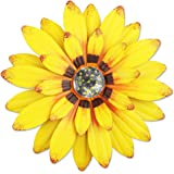 """YiYa 13"""" Metal Flower Wall Decor Multiple Layer Flower Wall Art Wall Art Decorations Hanging for Balcony Patio Porch Bedroom"""