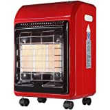 Portable Gas Heater Vent Free Radiant,Infrared Ceramic Heater, Indoor Outdoor Space Heater with Swivel Castors,4200W,red
