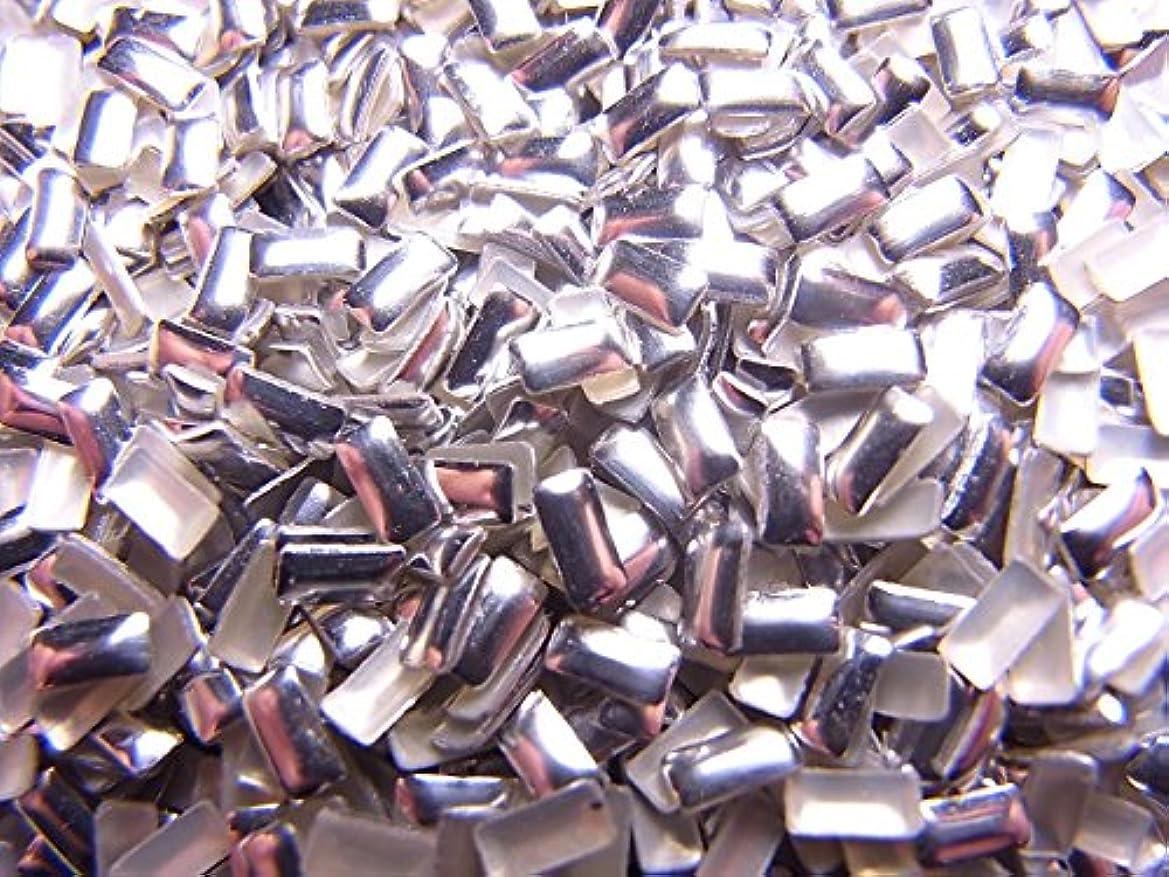 買う変動する困惑した【jewel】レクタングル型(長方形)メタルスタッズ 4mm シルバー 100粒入り
