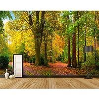 Ljjlm リビングルームパペルデパレデ寝室テレビウォールペーパーDiy 3D森の木写真壁紙壁画自己接着ビニール壁紙-160X120Cm