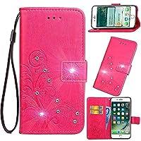 Galaxy S20 レザー 手帳型 ケース Luckyandery PUレザー カード収納 Samsung Galaxy S20 マグネット式 財布型 耐衝撃 スタンド スマホケース,Rose Red