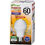 オーム電機 LED電球 E26 60形相当 人感センサー付 電球色 LDA8L-H R21 06-3593 OHM