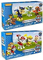 Nickelodeon Paw Patrol - Action Pack Pups TWO 3pk Figure Sets Bundle: Marshal Skye Rubble and Chase Rocky Zuma