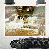"""滝カスケードwithホワイトWaters Modern Landscapeメタル壁アート 12x20"""" ホワイト MT10452-40-30"""