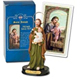 St Joseph Home Statue Seller Kit Laminated Holy Card & Legend of Saint Joseph
