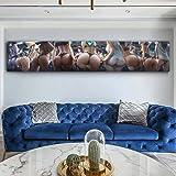 kldfig 女性プリントパーティーポスター大サイズゲームポスターセクシーな女の子の写真家の装飾用キャンバス絵画-30x160cm非フレーム