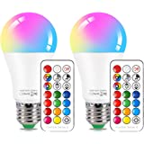 NetBoat LED Color Changing Light Bulb with Remote Control10W E26/E27 RGB+Daylight White LED Bulbs Dimmable with Memory Functi