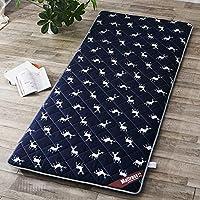 日本語 伝統的です マットレス,ソフト 厚い スリップ 畳マット,折り畳み式 太陽マット マットレス パッド 学生 寮 マットレス-e 100x200cm(39x79inch)