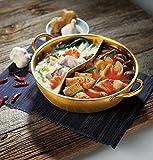 金色のよくばり 2食鍋 28cm 2種類の鍋を同時に調理可能 仕切り鍋 ステンレス製 IH対応 2654301m
