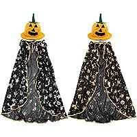 kingfly ハロウィンマント魔女の服装仮装コスプレ衣装 子供男の子 女の子シルバー