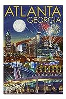 アトランタ、ジョージア–夜のスカイライン( 20x 30プレミアム1000ピースジグソーパズル、アメリカ製。 )