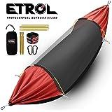 ETROL ハンモック アップグレード キャンプ ハンモック 蚊帳付き 3イン1 遮光デザイン アルミニウム ポータブル ハンモックテント 裏庭 旅行 ハイキング その他のアウトドア活動用