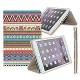 ipad mini2 /3 ケース アイパッドミニ カバー レザー 手帳型 超薄型 軽量 二つ折 スタンド機能付 横開きタイプ マグネット カートゥーン おしゃれ  オートスリープ (iPad mini1/2/3, 幾何パターン)