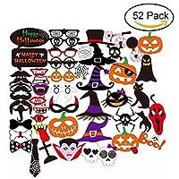 youniker 22個ハッピーハロウィン写真ブース小道具、ハロウィーンの装飾面白い写真ブース小道具ハロウィンパーティーDIY写真ブースキット
