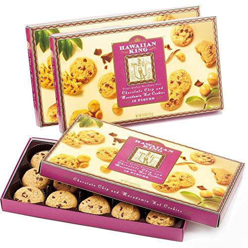 ハワイお土産 ハワイアンキング マカデミアナッツチョコチップクッキー 3箱セット