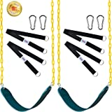 """Swings Seat with 66"""" Chain Plastic Coated [2 Pack],Playground Swing Set Accessories Replacement with Snap Hooks and Hanging S"""