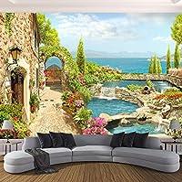 Weaeo 寝室の壁のための高品質のカスタム3D写真の壁紙3D庭の風景の背景の壁画ホームインテリアの居間-150X120CM