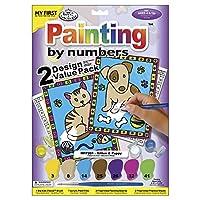 """私最初の塗料で番号のキット 8-3/4""""X 11-3/8""""2/Pkg 子猫と子犬"""