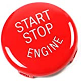 Jaronx Sports Red Start Stop Button For BMW (1 3 5 6 X1 X3 X5 X6 Series,E81 E90 E91 E60 E63 E84 E83 E70 E71),Engine Switch Po