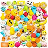 WATINC Random 30 pcs Squishies Cream Scented Slow Rising Kawaii Simulation Lovely Toy Medium Mini Soft Food squishies, Phone Straps (30P Donuts)