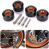 CICMOD Motorcycle Front & Rear Fork Wheel Frame Slider Crash Protector for KTM 125 200 390 Duke K