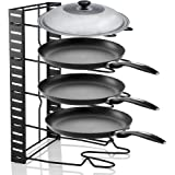 Pan Organizer Rack, 5 Tier Kitchen Saucepan Frying Pan Stand Holder Organiser Storage Rack Shelf