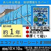 萩原工業 エコファミリーシート ♯3000 ブルー 10m×10m 【人気 おすすめ 】