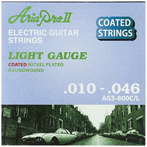 エレキ弦×1 ARIA AGS-800C/L  10-46  エレキギター用 コーティング弦/ 代金引換