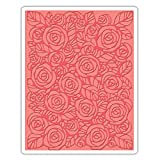 Sizzix 661829 Tim Holtz Texture Fades A2 Embossing Roses Folder
