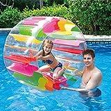 lfoesd子供インフレータブルホイールローラー カラフル 膨張式水車ローラー 土地パーティー フロートホイール 屋内アウトドア水泳プール水車おもちゃ