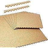 【コルクマット 45cm 約6畳 大粒 EVA】45cm角コルクマットサイドパーツ付き 48枚セット (B705-48)