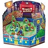 サンリオ 誕生日カード ライト&メロディ 立体 野球場 P464