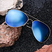 Retro Aviator Polarized Sunglasses Mirrored for Men Women W/Case Driving UV400
