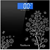 Weight Scale, Precision Digital Body Bathroom Scale with Step-On Technology, 6mm Tempered Glass Easy Read Backlit LCD Display
