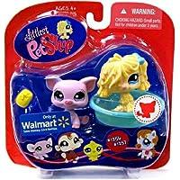 Littlest Pet Shop (リトルペットショップ) Sheep Dog & Pig #1256 & #1257 ~ Walmart Exclusive(並行輸入)