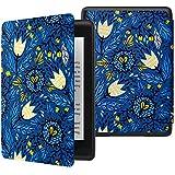 ATiC NEW-Kindle Paperwhite(Newモデル)ケース Kindle Paperwhite 2018 第10世代用軽量薄型保護カバー(オートスリープ機能付き) , TulipBlue