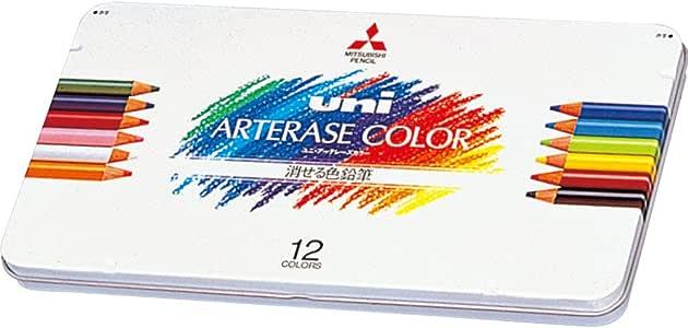 三菱鉛筆 消せる色鉛筆 ユニアーテレーズカラー 12色 UAC12C