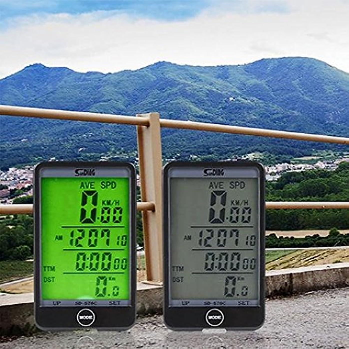 療法行政無礼にMTB自転車自転車サイクリングコンピュータの走行距離計LCDバックライト表示の速度計