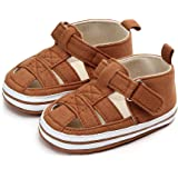 Sawimlgy Baby Girls Boys Sandals Summer Flowers Dress Shoe Soft Sole PU Leather Infant Toddler First Walkers Cribing Shoes