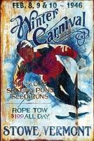 スキーStowe by Red Horse Studios印刷ポスター12x 18