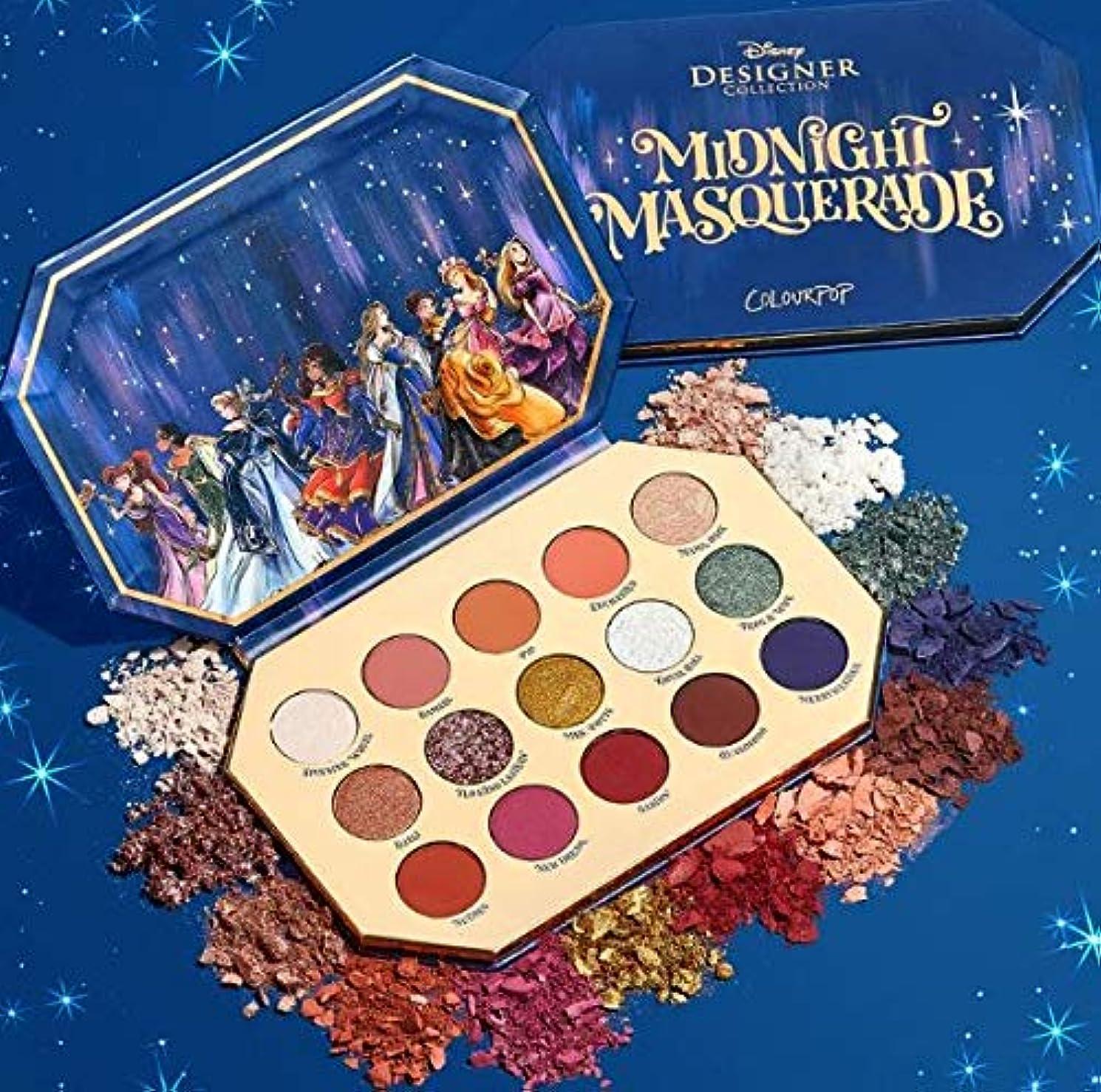 カップル花機会カラーポップ (ColourPop)midnight masquerade アイシャドウパレット ディスニーコラボ