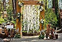 ofilaウェディングデコレーションバックドロップ8x 6.5ftウェディング花アーチ写真背景Wedding Ceremony Arrangementブーケ写真Love Marriage Bride Groom Portraits Studioビデオ小道具