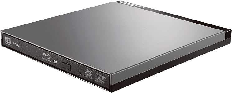 ロジテック Blu-ray ブルーレイ 外付けドライブ USB3.0 UHD BD対応 書込ソフトCyberLink Power2Go 8付 シルバーグレー LBD-PUD6U3LGY