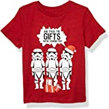 STAR WARS Boys' Little Looking for Gifts T, Chinese red Black