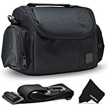 Well Padded Fitted Medium DSLR Camera Case Bag w/ Zippered Pockets and Accessory Compartments for Canon EOS Rebel T6i T6S T5i T5 T4i T3i T3 T2i SL1 EOS 70D 60D 7D 6D 5D 750D 700D 650D 600D 550D 1200D 1100D 100D EOS M3 M2 T1i XTi XT SL1 XSi 7D Mark II DSLR Cameras