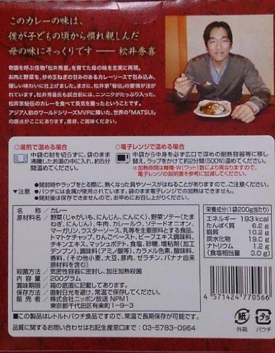 ニッポン放送 松井家秘伝のカレー試合前 200g×5個